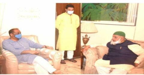 ভূমিমন্ত্রী সাইফুজ্জামান জাবেদের সঙ্গে চসিক প্রশাসক সুজনের সাক্ষাৎ